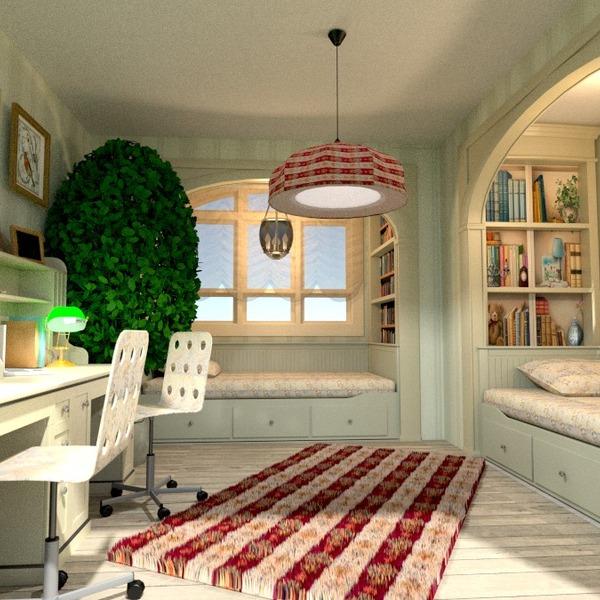nuotraukos baldai dekoras vaikų kambarys renovacija idėjos