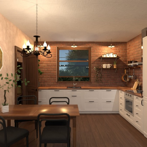 foto casa cucina illuminazione rinnovo sala pranzo idee