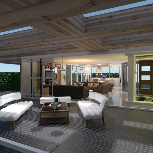 fotos casa varanda inferior área externa iluminação paisagismo ideias