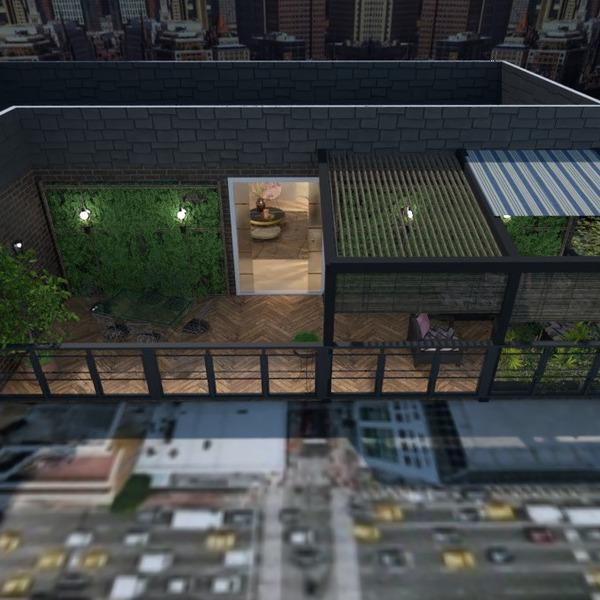 идеи квартира терраса мебель декор освещение идеи