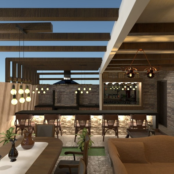 photos maison terrasse eclairage paysage salle à manger idées