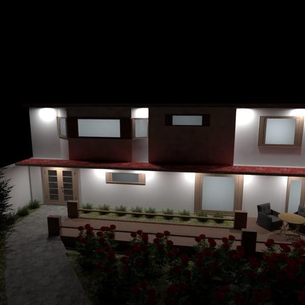 nuotraukos namas terasa eksterjeras apšvietimas kraštovaizdis idėjos