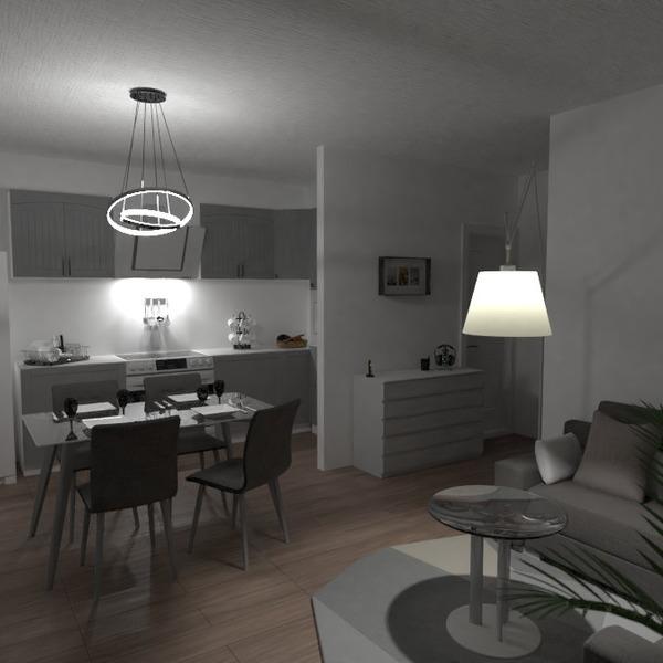 zdjęcia meble pokój dzienny kuchnia oświetlenie remont pomysły