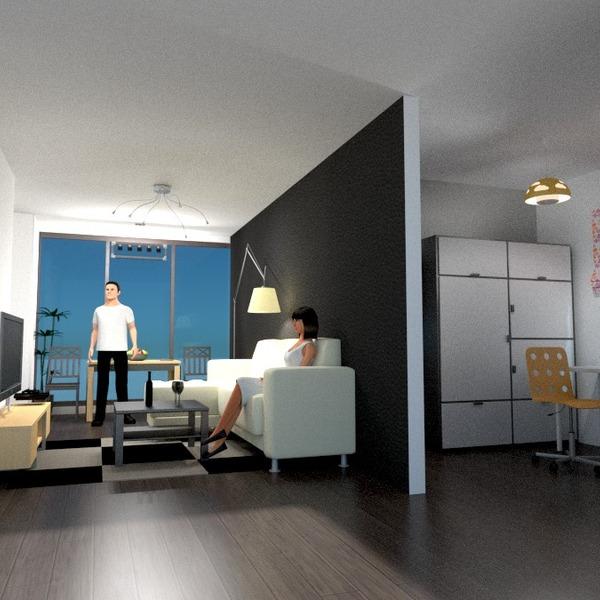 zdjęcia biuro mieszkanie typu studio pomysły