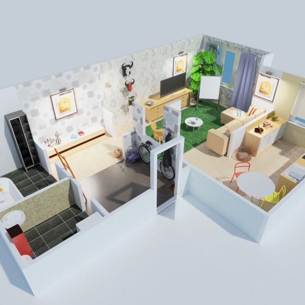 foto appartamento bagno camera da letto saggiorno cucina rinnovo vano scale idee
