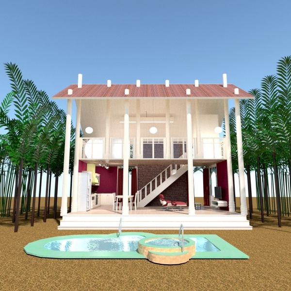 nuotraukos namas terasa kraštovaizdis аrchitektūra idėjos