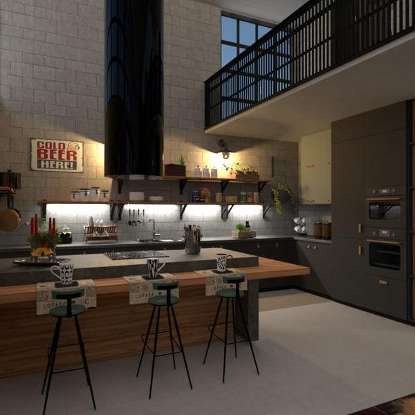 nuotraukos butas baldai virtuvė apšvietimas idėjos