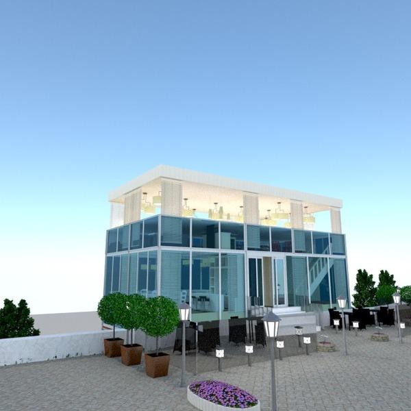 foto casa veranda esterno illuminazione rinnovo paesaggio caffetteria architettura idee