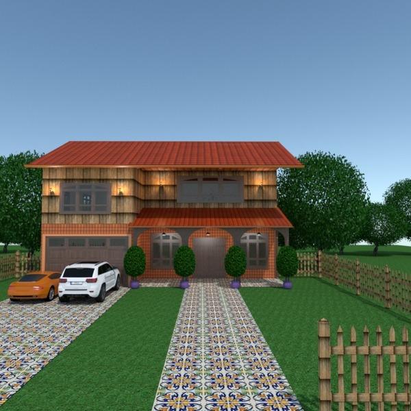 foto casa garage esterno illuminazione paesaggio architettura ripostiglio vano scale idee