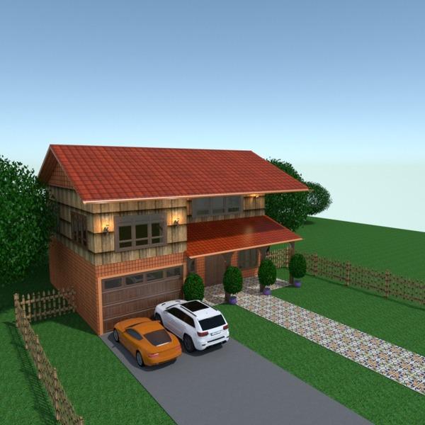 foto casa garage esterno illuminazione paesaggio architettura ripostiglio idee