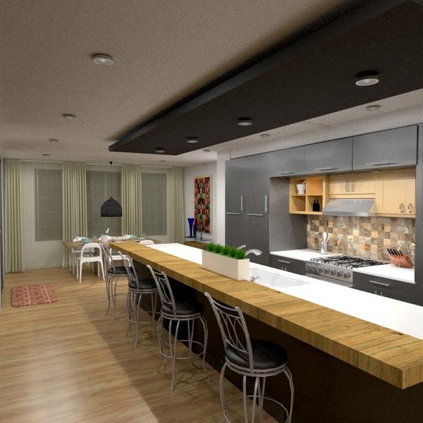 nuotraukos baldai virtuvė apšvietimas valgomasis idėjos