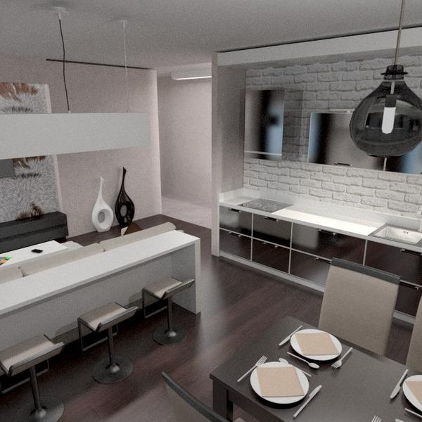 идеи квартира гостиная кухня освещение ремонт столовая студия идеи