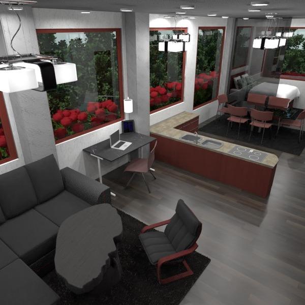 foto appartamento decorazioni illuminazione monolocale idee