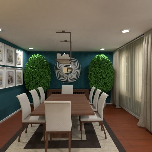 foto decorazioni illuminazione famiglia sala pranzo idee