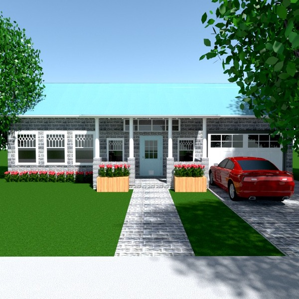 fotos casa garagem área externa paisagismo arquitetura patamar ideias