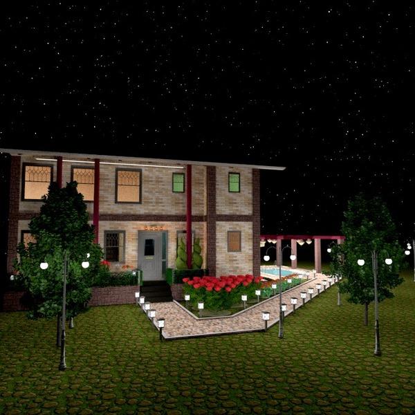 fotos casa terraza exterior iluminación paisaje arquitectura ideas