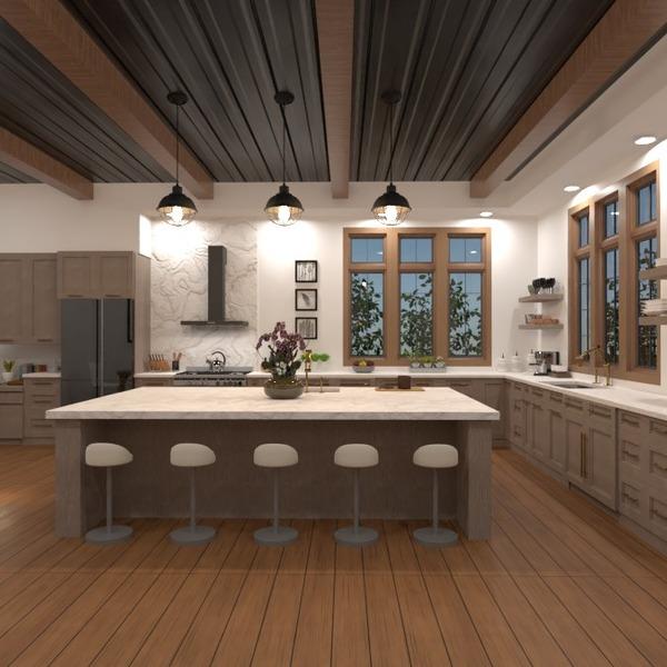 photos maison décoration cuisine eclairage salle à manger idées