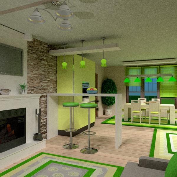 foto arredamento illuminazione sala pranzo monolocale idee