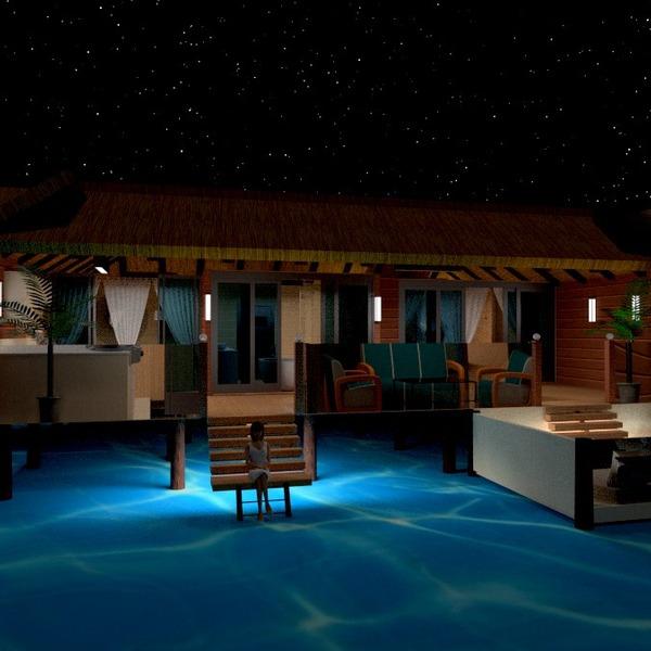 foto casa veranda esterno illuminazione architettura idee