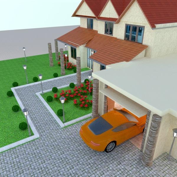 fotos casa garaje paisaje arquitectura ideas