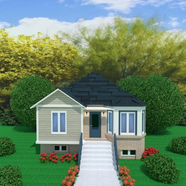 foto casa esterno illuminazione paesaggio architettura idee