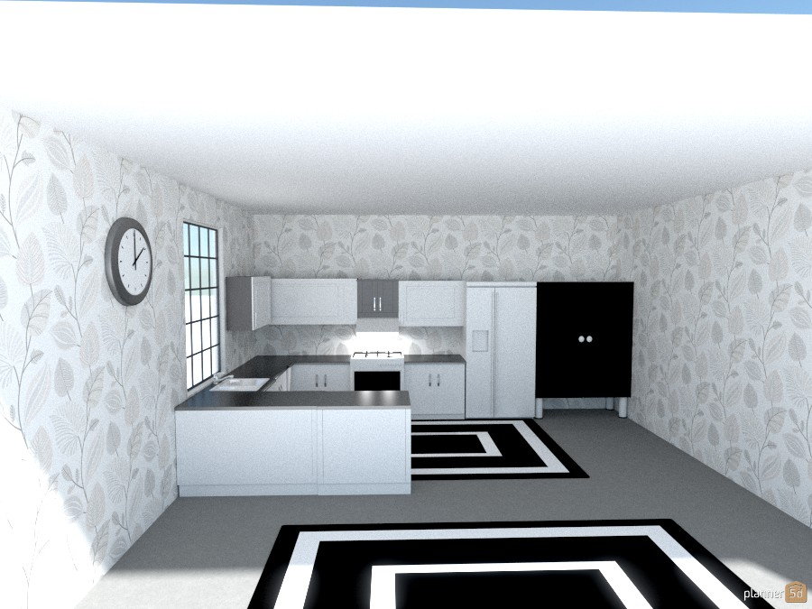 black white and gray kitchen 781475 by Joy Suiter image