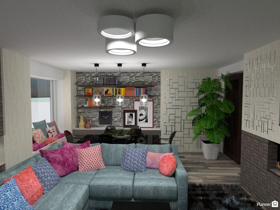 Salotto e sala da pranzo - Apartment ideas - Planner 5D