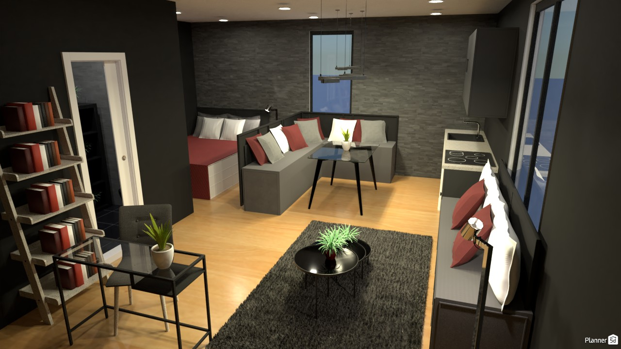 Interior de estudio pequeño. 3913519 by Hall Pat image