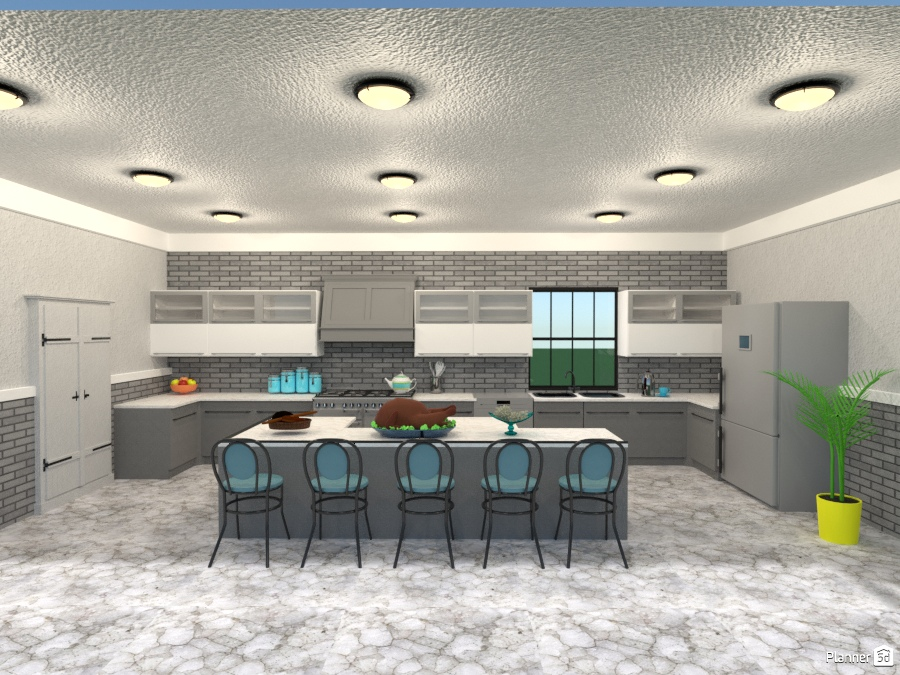 Large Family Kitchen Furniture Ideas Planner 5d