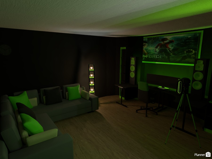 Gaming Room Free Online Design 3d Studio Floor Plans By Planner 5d