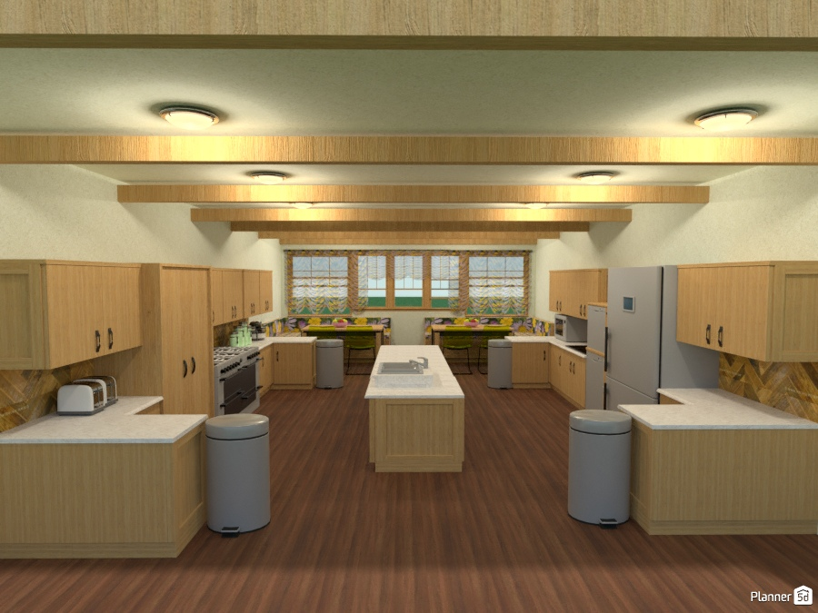 600 Sf Eat In Kitchen With Commercial Size Appliances Free Online Design 3d House Ideas Joy Suiter By Planner 5d