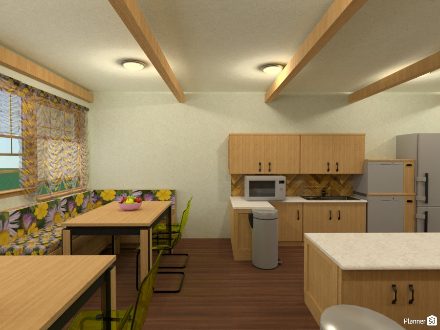 Sf Eatin Kitchen With Commercial Size Appliances Furniture - Eat in kitchen lighting