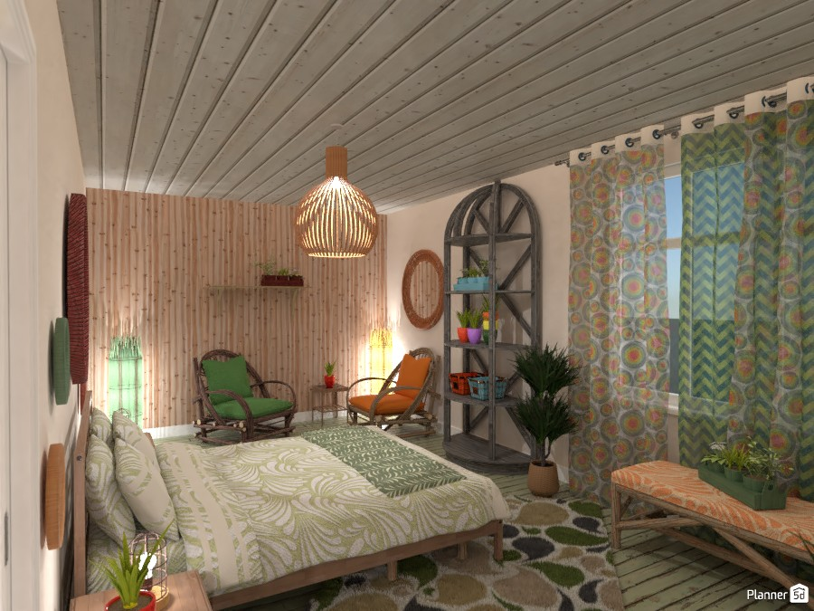 Boho Style Interior Bedroom Free Online Design 3d House Ideas Moonface By Planner 5d