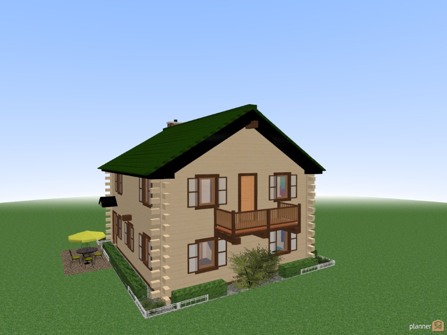 Log House REVISED New ROOF Apartment ideas Planner 5D