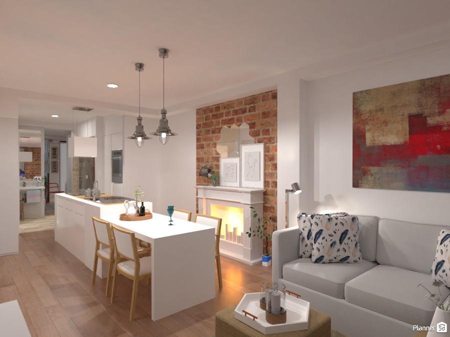 City Apartment No. X / Kitchen + Living Room 3320606 by Lucija Marko image