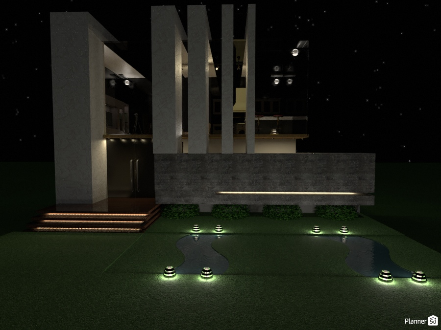 Simple modern house part 2 in the evening house ideas for Modern house 7 part 2