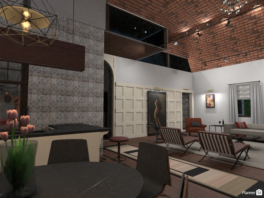 18th-c Portuguese villa - private living room, panneled wall 2642858 by Ricardo Barros image