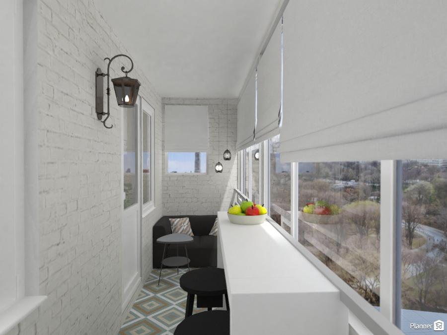 кухня-гостиная с балконом 74544 by Elena Strenova image