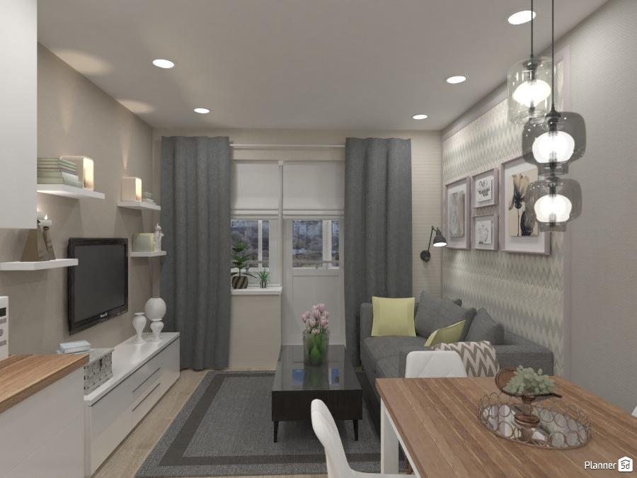 Гостиная - Apartamento ideas - Planner 5D