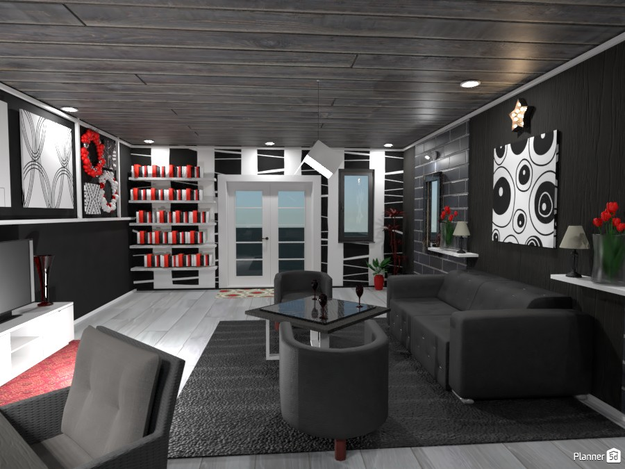 Black, White, and Red Office 83836 by Erin image