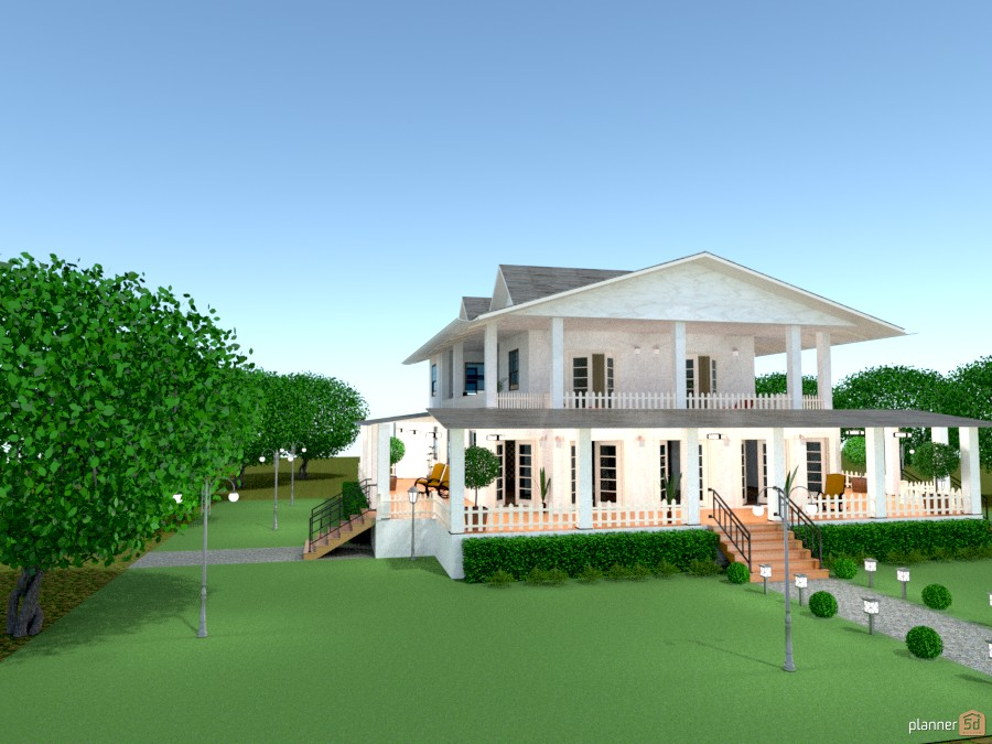 Casa fin de semana house ideas planner 5d for Casas con balcon y terraza