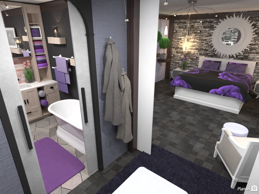 Master bedroom WIR Ensuite - House ideas - Planner 5D