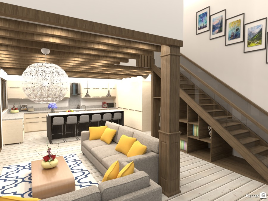 living room and kitchen 4315713 by Mia image