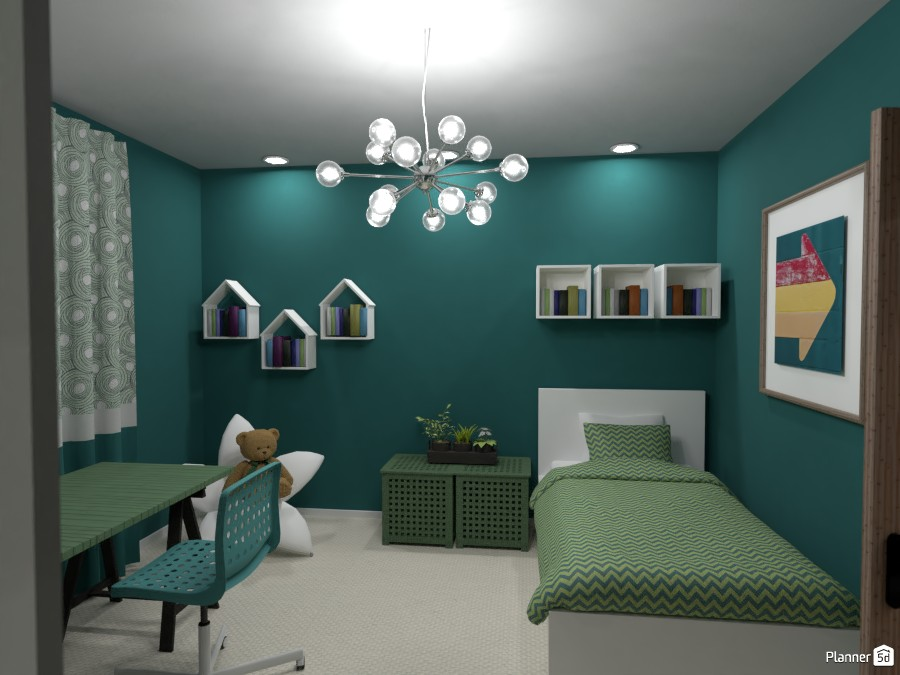 Green sister's bedroom 3670636 by Rita Oláhné Szabó image