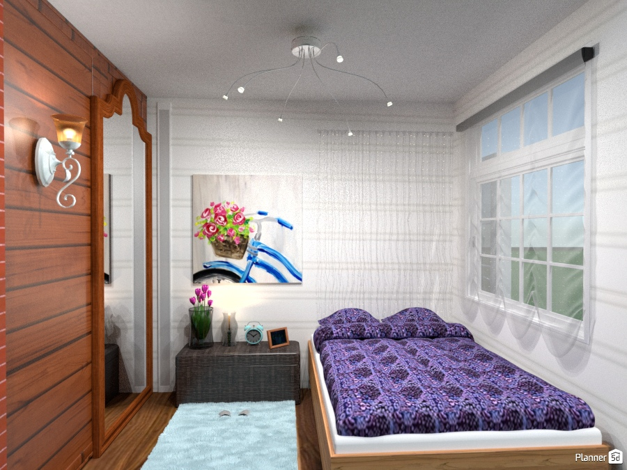 Tiny house bedroom apartment ideas planner 5d for B q bedroom planner