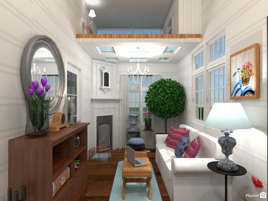 Tiny house living room apartment ideas planner 5d for B q living room lights
