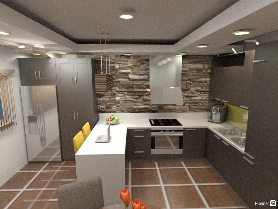 Kitchen apartamento ideas planner 5d for Muebles apartamento