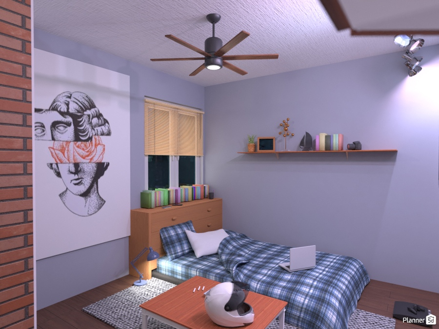 cool small purple-ish bedroom 2459615 by ענבר רביץ image