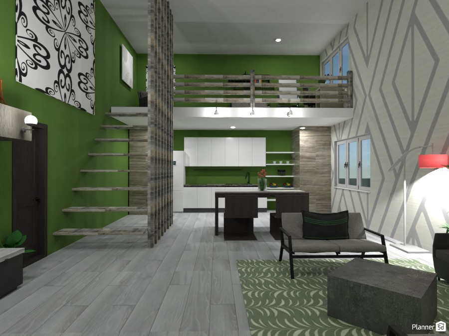 Modern/Industrial House: Main living areas 3685760 by Erin image