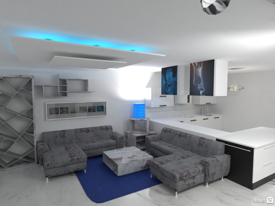 vista dos salon cocina integrada 2891714 by Juanjo Mangas image